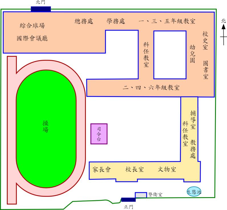 大龍國小校園平面圖